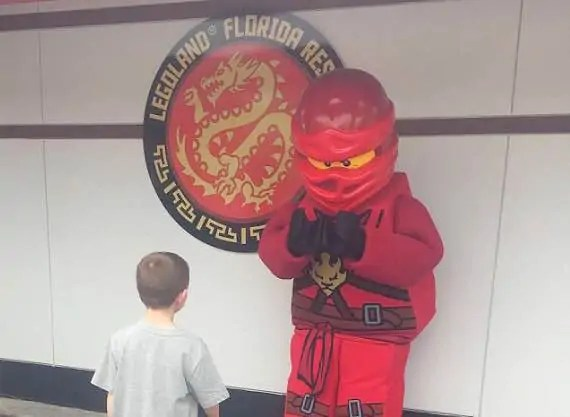 ninjago characters at legoland in florida
