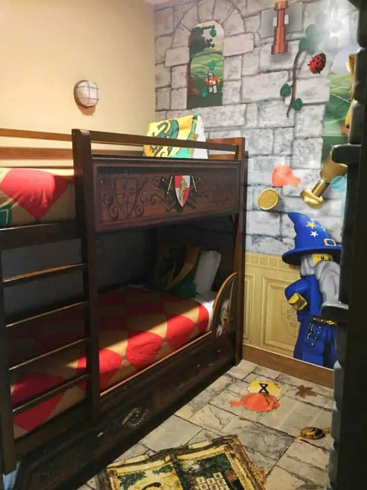 kids bunk beds at the Legoland florida hotel