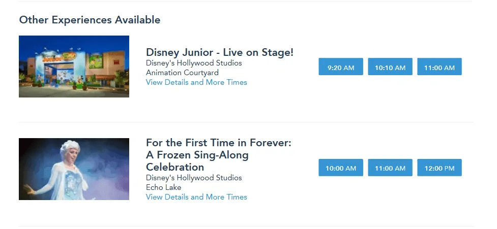 make fastpass selection