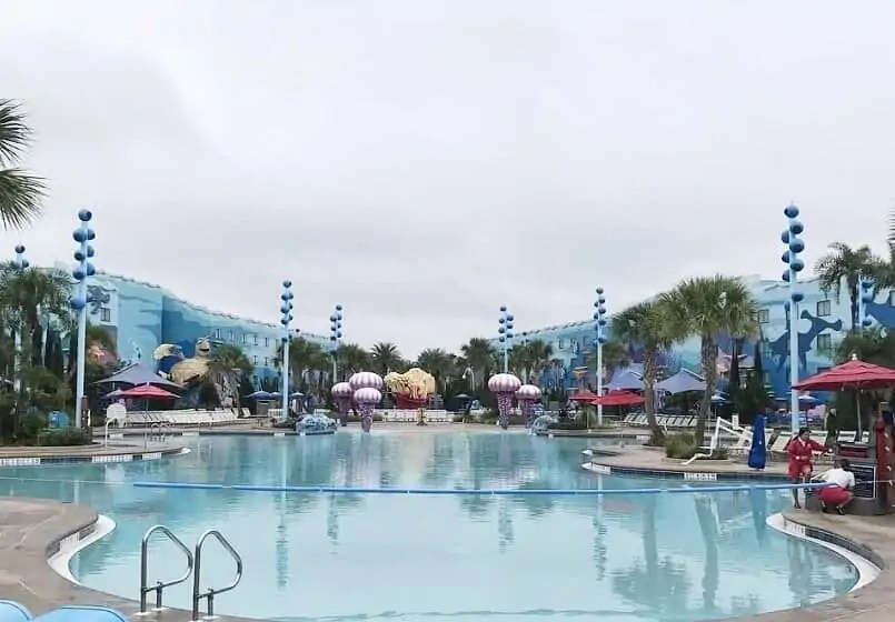Finding Nemo pool art of animation resort