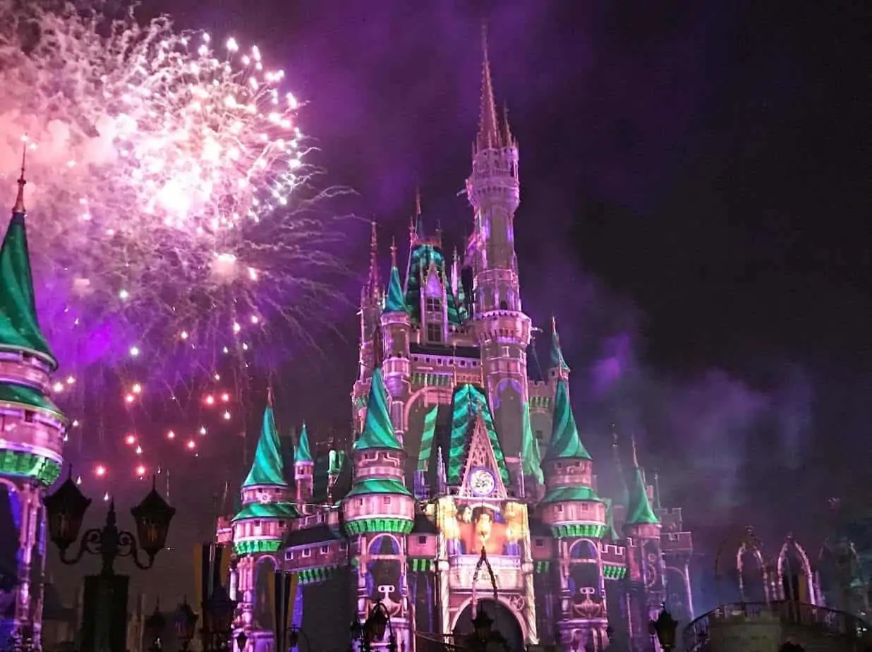 happily ever after castle show at magic kingdom