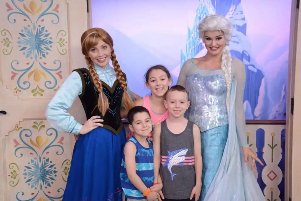 Anna & Elsa at Epcot on Disney VIP Tours