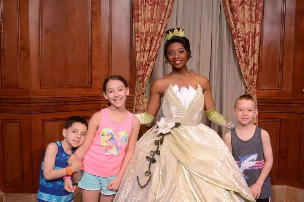Tiana at the Magic Kingdom