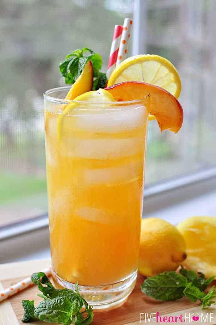 Minty Peach Lemonade