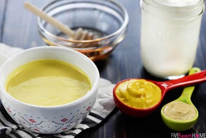 healthy honey mustard with