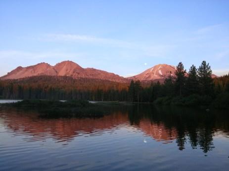 Lassen Peak at sunset