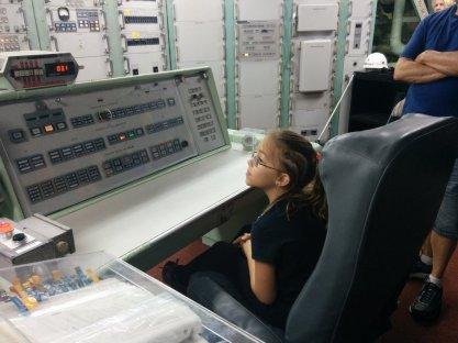 Ali at the controls