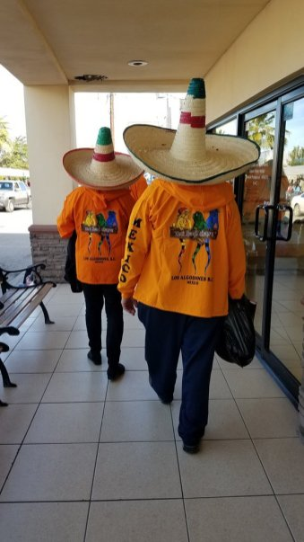 Tourists in Algodones, Mexico