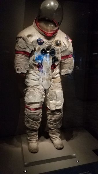 Alan Shepard's space suit - still covered with moon dust