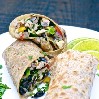 alt= five minute meals chicken black bean burrito