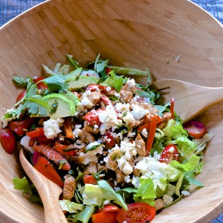 alt= five minute meals organic southwestern chicken salad