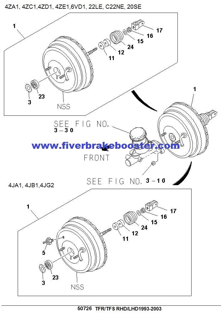 93-03 ISUZU TFR TFS PICKUP Master VAC 8970219421
