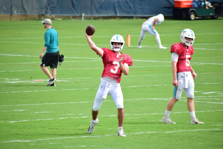 """Josh Rosen """"trying out"""" for Dolphins future"""