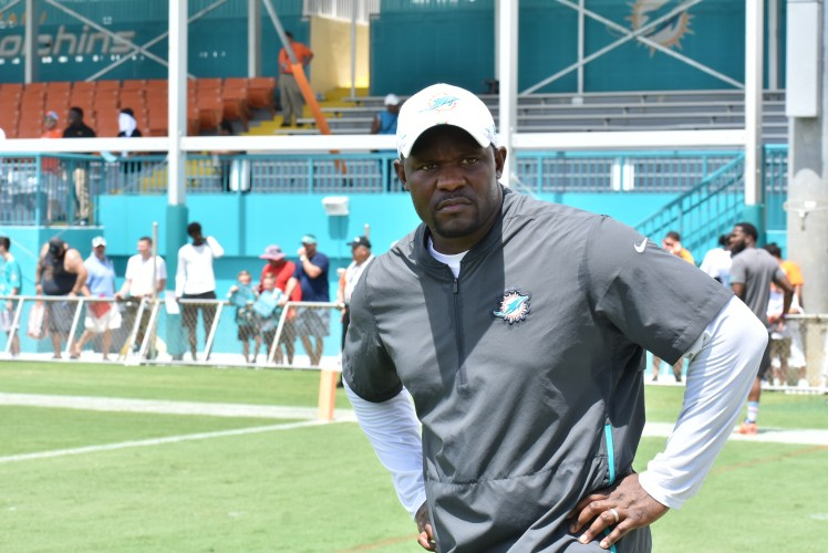 Miami Dolphins coach Brian Flores