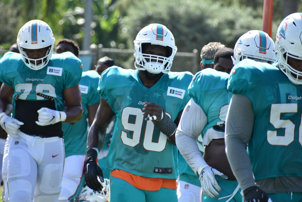 Dolphins' young pass-rushers hungry for more as team heads into bye week