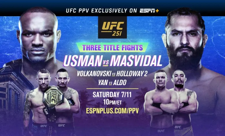 UFC 251: Short Notice Mega Fight