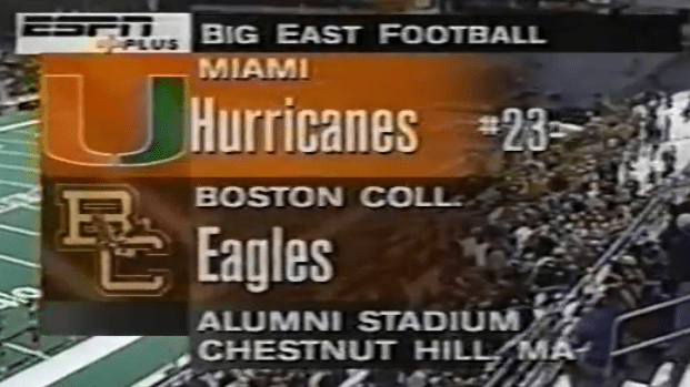 Recollected Dozen, Game 1:  1999 Miami @ Boston College