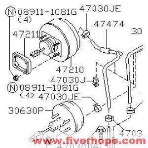 30630WJ000 CLUTCH BOOSTER NISSAN CIVILIAN_Nissan Brake