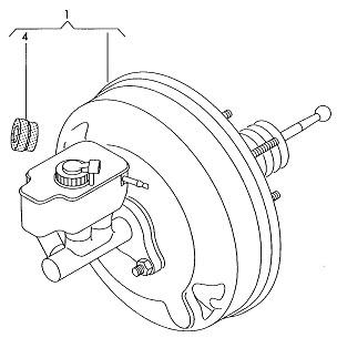 VW Audi brake booster_Power brake booster_Auto brake parts