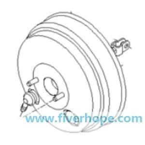 Brake booster/master vac 586105L000 Hyundai E-COUNTY 04EM