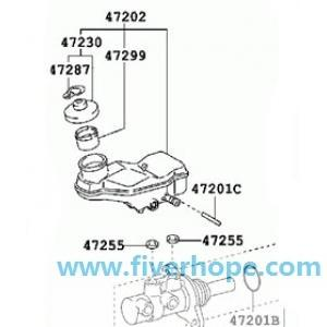 Master Cylinder 47201-12A80 47201-12B20 TOYOTA COROLLA