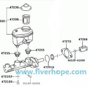Master VAC 47025-60032 47025-60010 LEXUS LX470 UZJ100