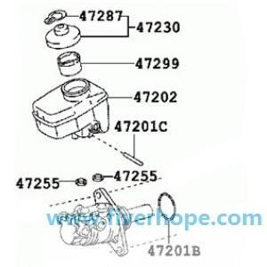 Master VAC 47028-30010 47028-30030 LEXUS GS30/35/43/460