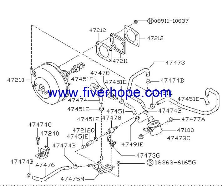 JKC 854-01702 Master VAC / Brake booster / Servo freno
