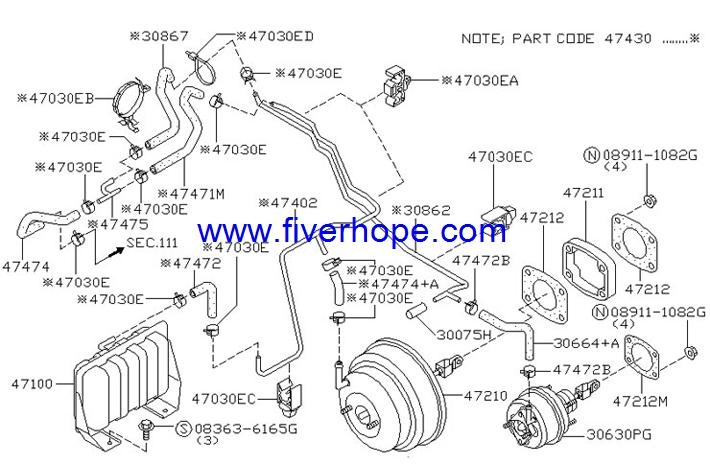 JKC 855-01055 Master VAC / Brake booster / Servo freno