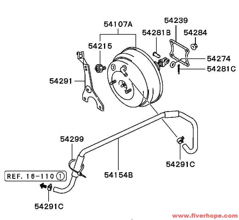 MR527061 Brake booster for MITSUBISHI L200 Triton
