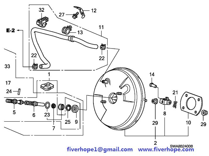 01469-SWA-A00 BRAKE SERVO HONDA CR-V 2009_Honda brake