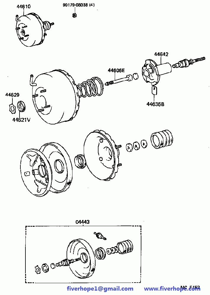 Brake booster 44610-26290 TOYOTA DYNA100 1987-1995_Toyota