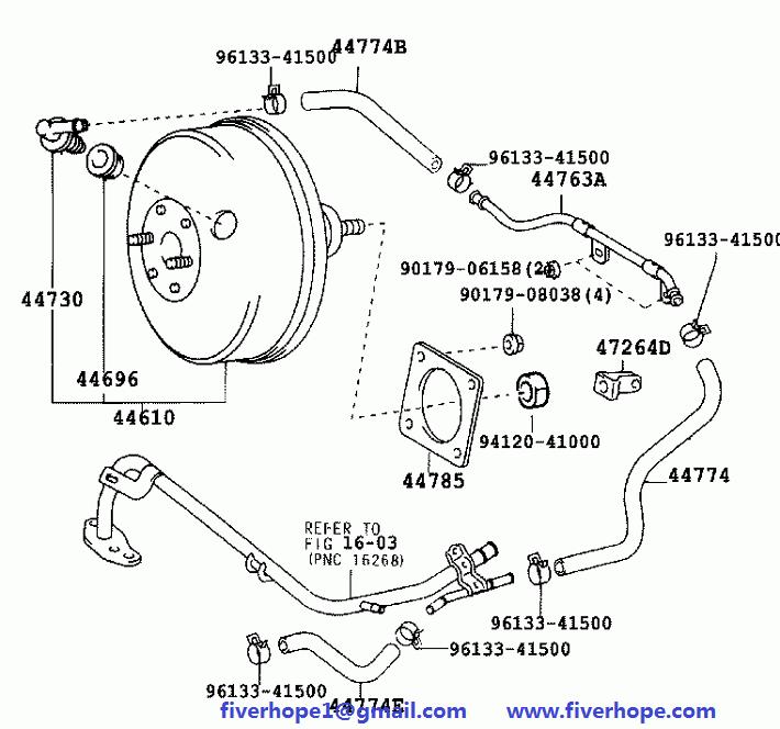 Brake servo / booster 44610-68010 44610-68050 TOYOTA WISH