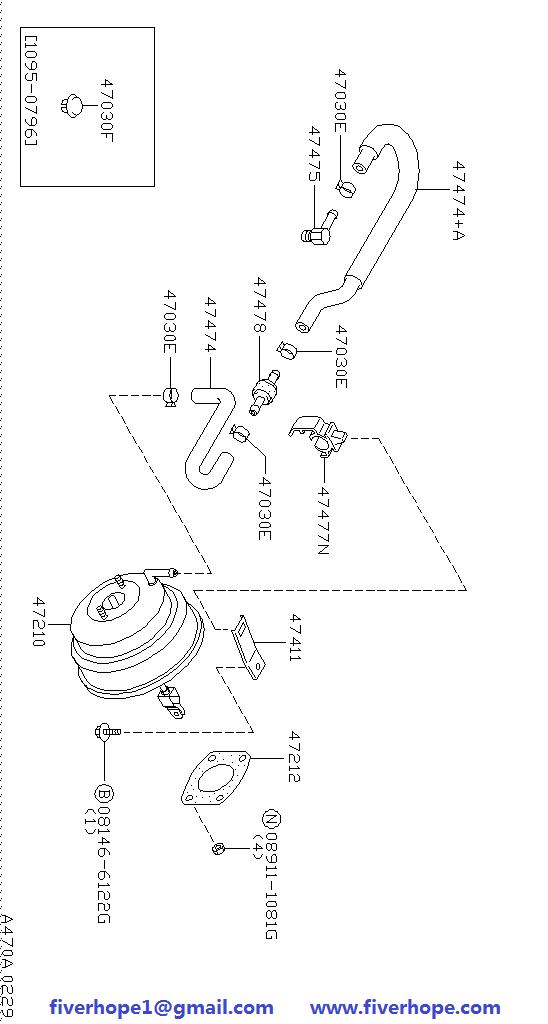 Brake servo / booster 47210-0W700 47210-1W300 NISSAN