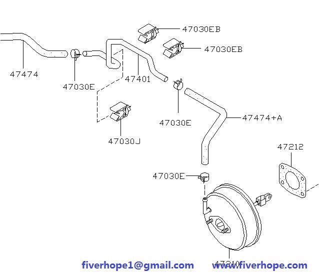Brake servo / booster 47210-4M513 NISSAN ALMERA JPN MAKE