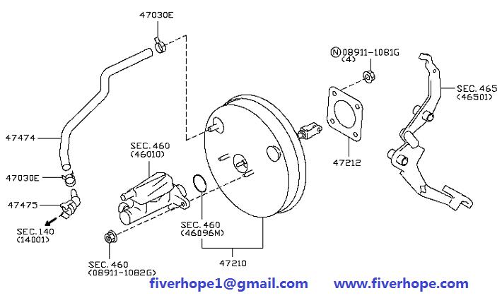 Brake booster D7210-JX50D NISSAN NV200 2009-2010_Nissan