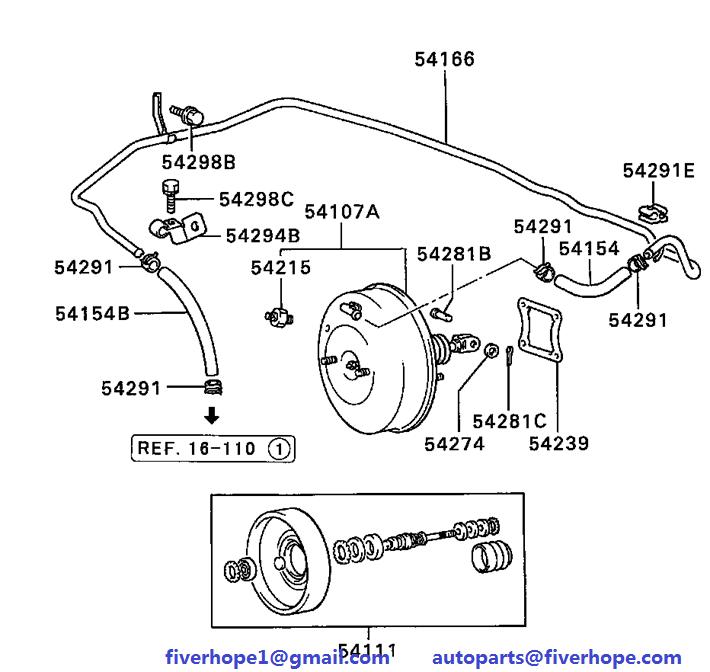 Brake servo MB618976 MITSUBISHI L200 06.1996-03.2001