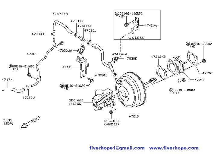 2008-2012 NISSAN FRONTIER / NAVARA 47210-JR80A Brake