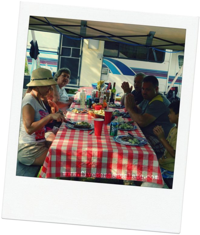 Happy Campers enjoying a great meal! :)
