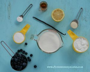 Panna Cotta and Blueberry Flambe Recipe Ingredients