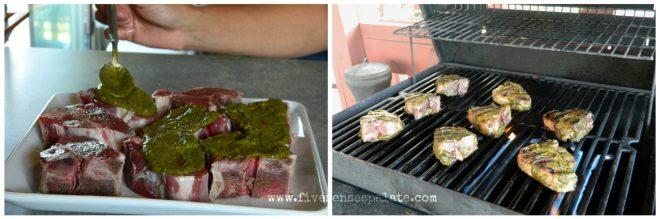 Spiced Lamb Chops with Cilantro Chutney Recipe | Five Senses Palate
