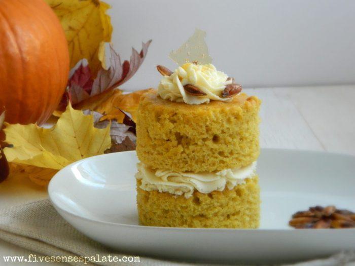 Pumpkin Cake with Ginger Mascarpone Frosting Recipe   Five Senses Palate