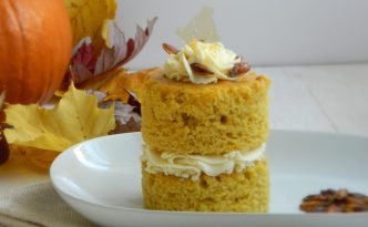 Pumpkin Cake with Ginger Mascarpone Frosting Recipe | Five Senses Palate