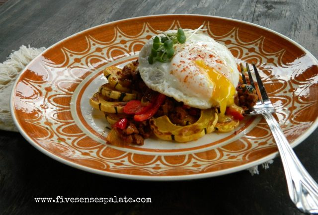 Roasted Delicata Squash with Chorizo Recipe   Five Senses Palate