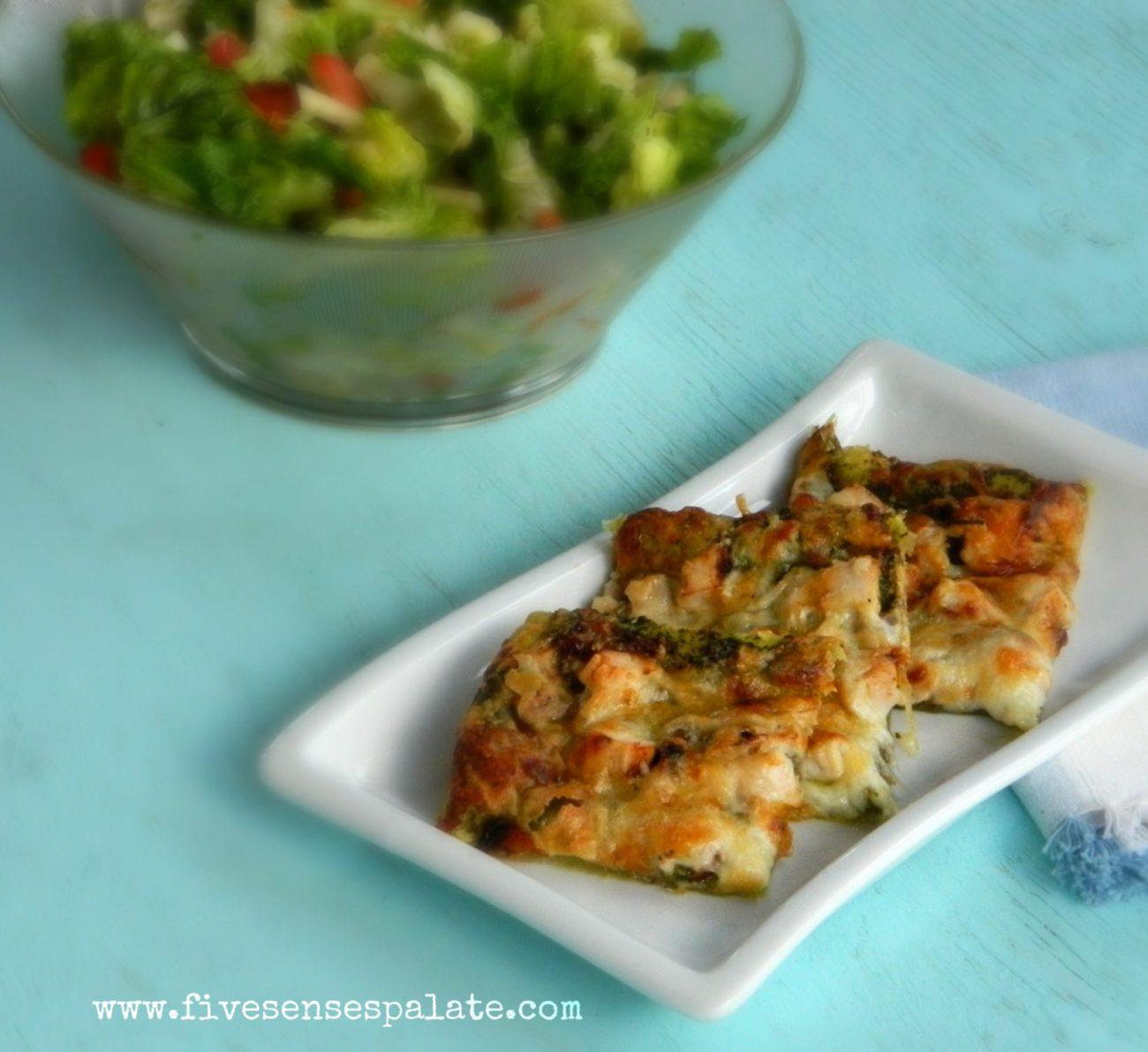 Chicken, Pesto & Caramelized Onions Tart   Five Senses Palate   Five ...