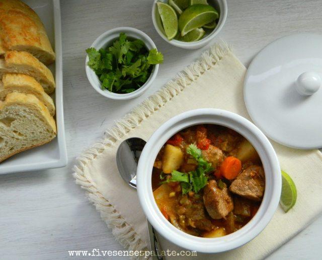 Pork & Tomatillo Stew Recipe   Five Senses Palate