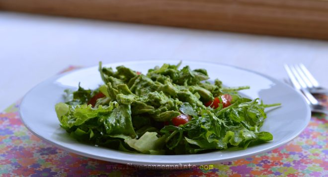 Creamy Cilantro Chicken Salad Recipe | Five Senses Palate