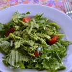 Creamy Cilantro Chicken Salad with Greens