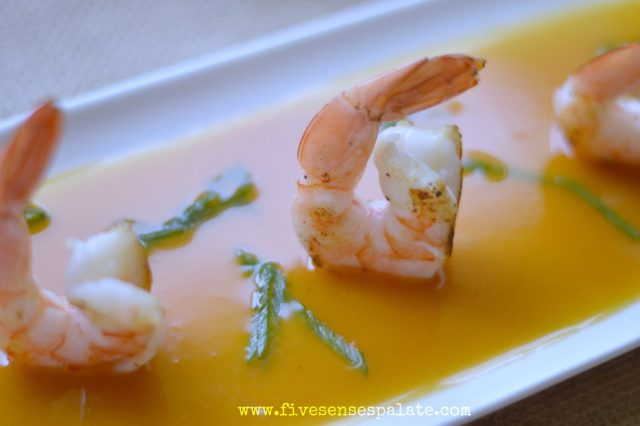 Grilled Shrimp with Passion Fruit Sauce Recipe | Five Senses Palate