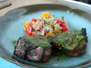 Grilled Lamb Chops with Cilantro-Mint Sauce | Five Senses Palate